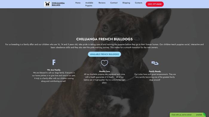 Chiluangabullies.com - French Bulldog Puppy Scam Review