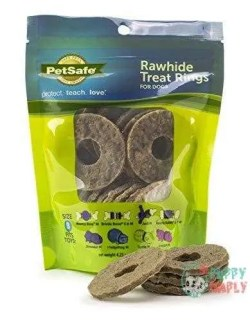 PetSafe Natural Rawhide Rings, Dog