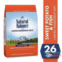 Natural Balance L-I-D- Limited Ingredient Diets Sweet Potato & Fish Formula Grain-Free Dry Dog Food