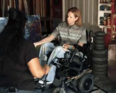 A Service Dog Inspires an Artist To Paint with Wheelchair