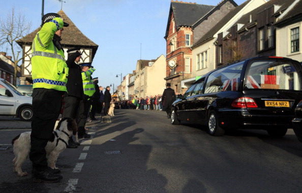 Wootton Bassett Pays Tribute To A Fallen Soldier And His Dog As Their Bodies Are Repatriated