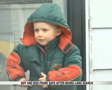 Missing Boy Found and Protected by Dog