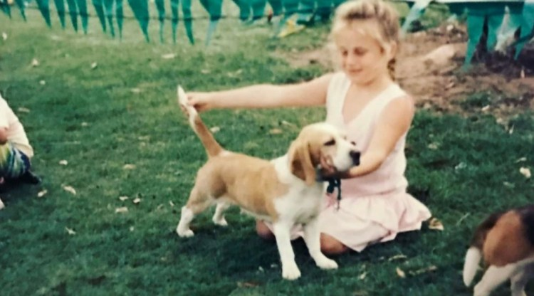 Rebel Wilson with Dog