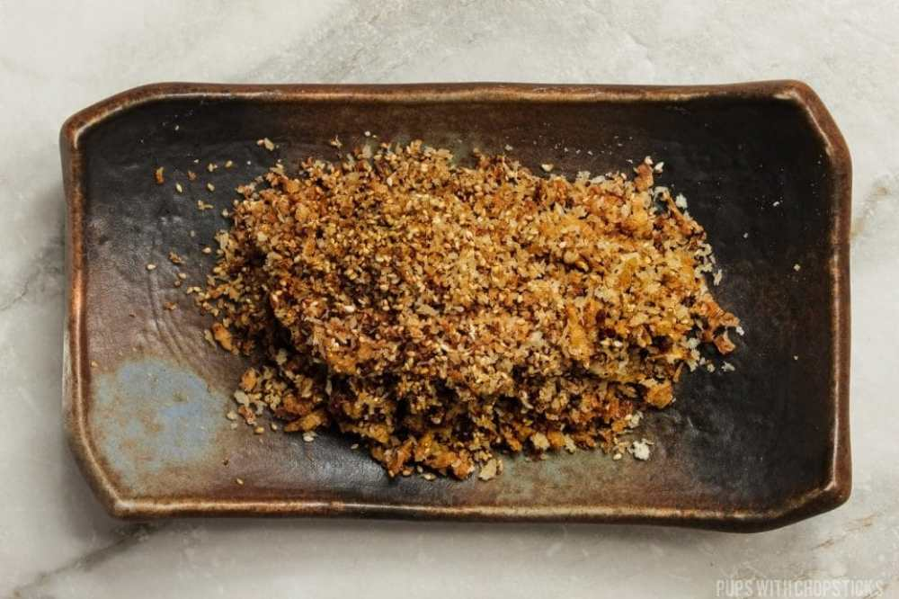 Crispy topping to go with the Chinese Sticky Rice (Lo Mai Fan)