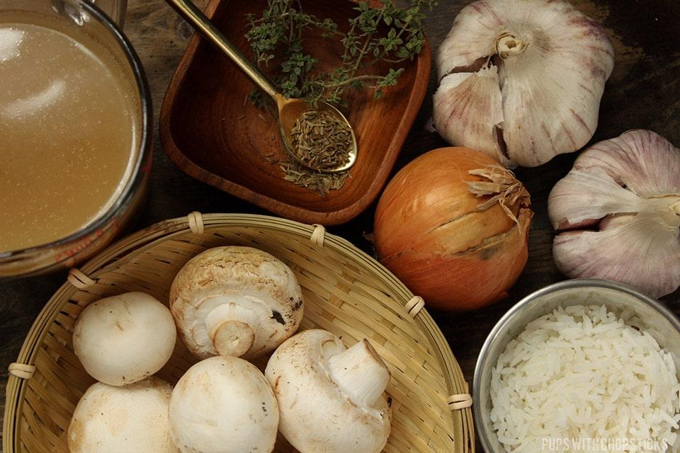 Creamy Roasted Mushroom Garlic Soup (Dairy Free) Ingredients