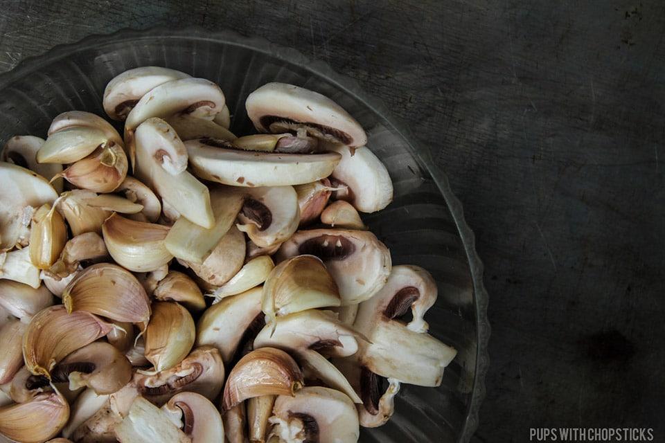 Creamy Roasted Mushroom Garlic Soup (Dairy Free)