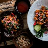 Lao Crispy Rice Salad (Nam Khao)