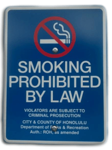 Smoke-free laws In Effect