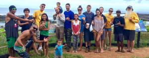Special visitors from Waimea Valley