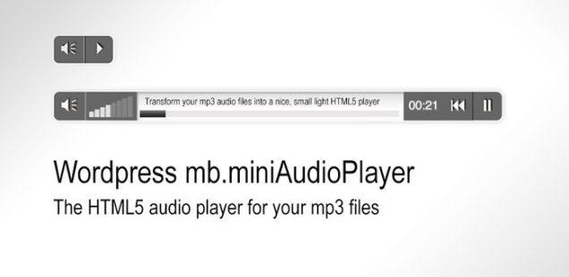 Wordpress mb.miniAudioPlayer, a short tutorial
