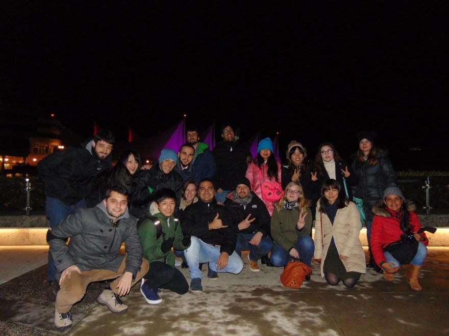 留学生たちとカナダで年越しの時の写真