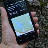 ジオキャッシングの地図の写真