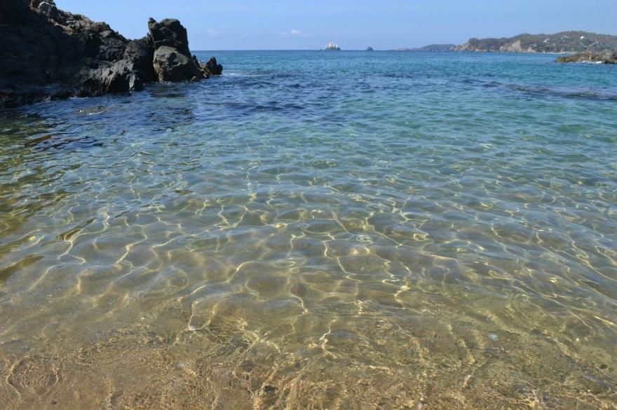 メキシコ・シポリテの綺麗な海の写真