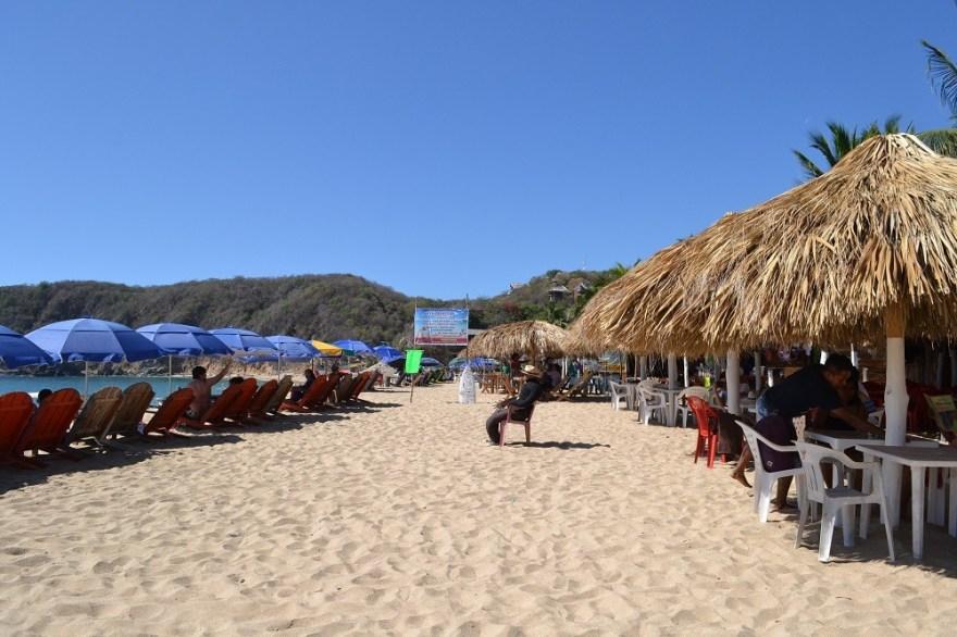 メキシコ・マスンテのビーチレストランの写真