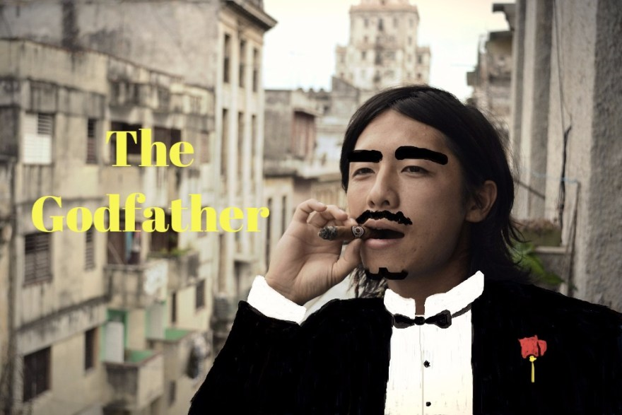 The Godfather風の自分の写真