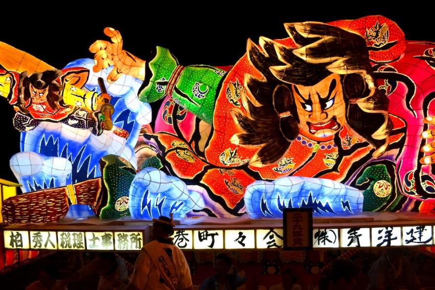 青森県ねぶた祭(地域ねぶた・大国主命と少彦名命)の写真