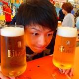 横浜赤レンガオクトーバーフェスト(ビールと自分)の写真