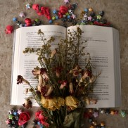 Open Book & Flowers