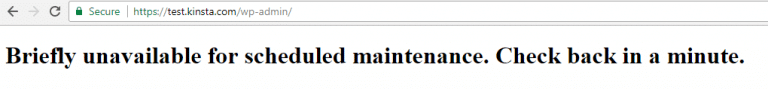 Wordpress travado no modo manutenção