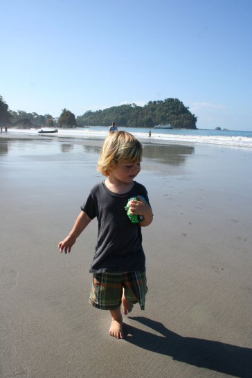 Eli and his Shadow in Manuel Antonio
