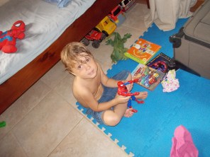 Eli Playing In His Room