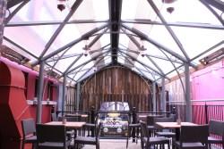 Custom smoking canopy structure