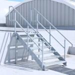 Mild steel galvanised stairs and balustrade