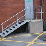 Mild steel galvanised stairs with balustrade
