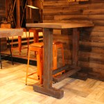 Painted Rust Effect High Top Table Base (1)