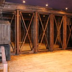 Painted Rust Effect Mild Steel Frame in Front of Mirror at Stage Area (1)