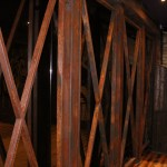 Painted Rust Effect Mild Steel Frame in Front of Mirror at Stage Area (3)