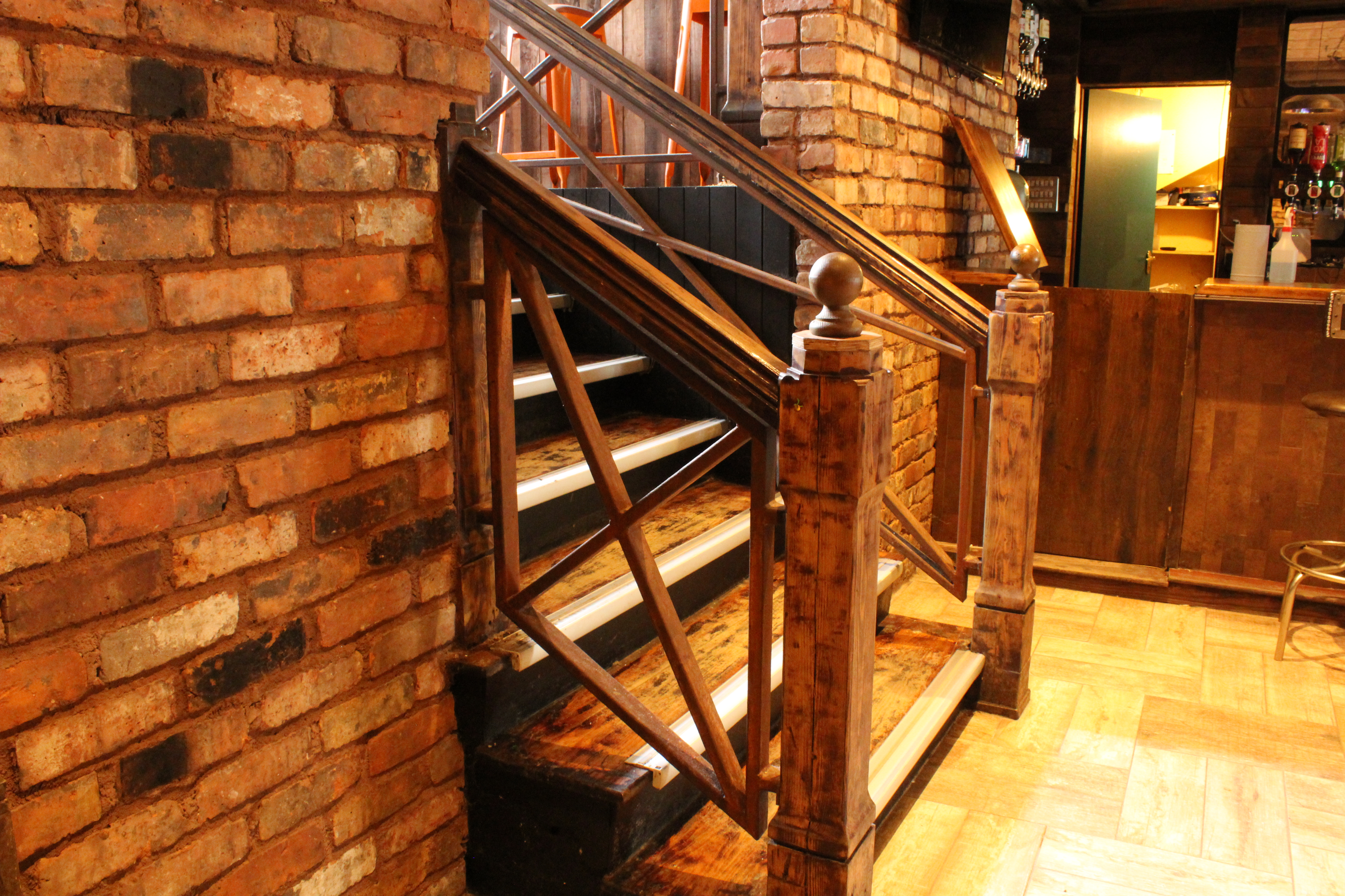 Painted Rust Effect Stairs Railing (1)