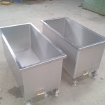 Stainless Steel tanks on casters