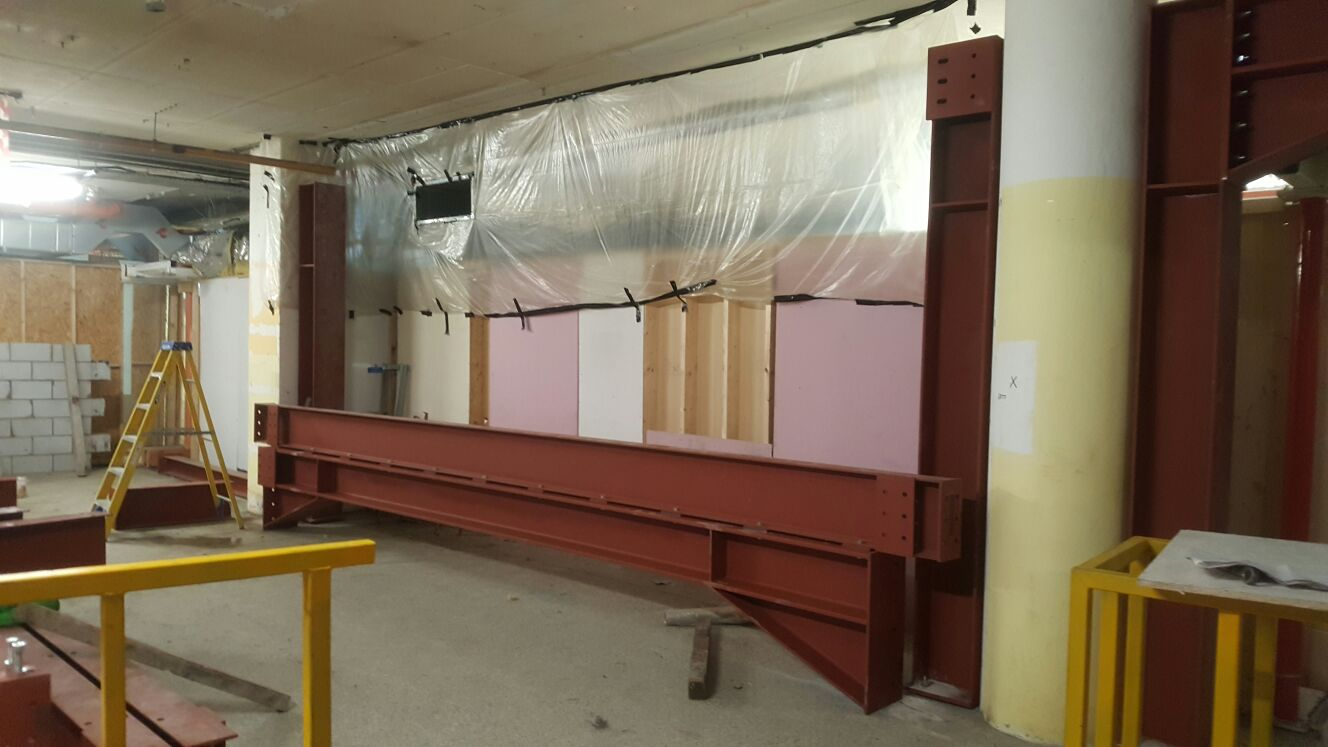 9 - Installation of steel begins