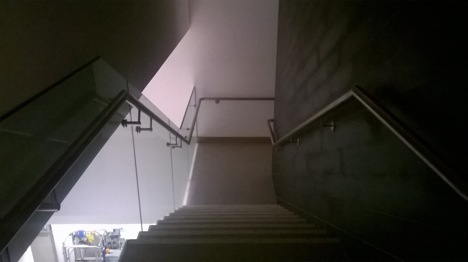 14 - Feature Staircase with Glass Balustrade and Stainless Steel Handrail
