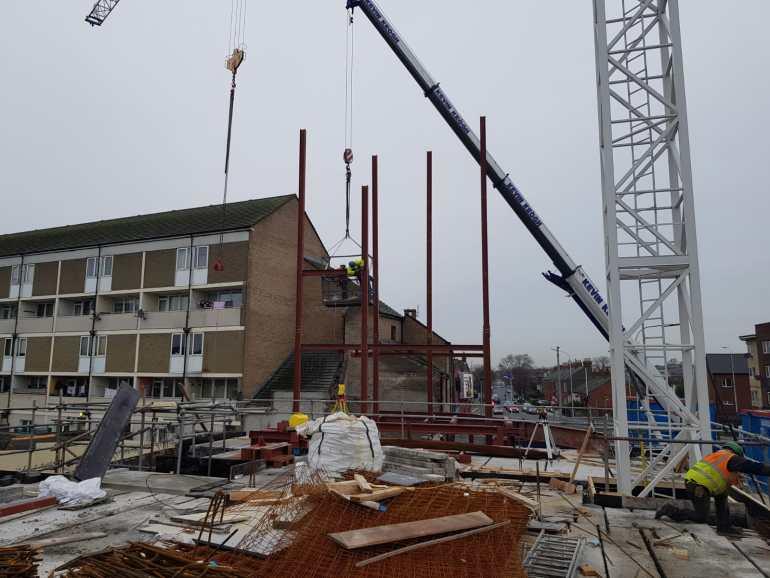 3 - Structural steel installation Popular Row