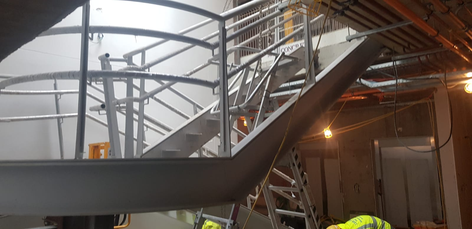 5 - Installation of feature stairs Peamount Hospital