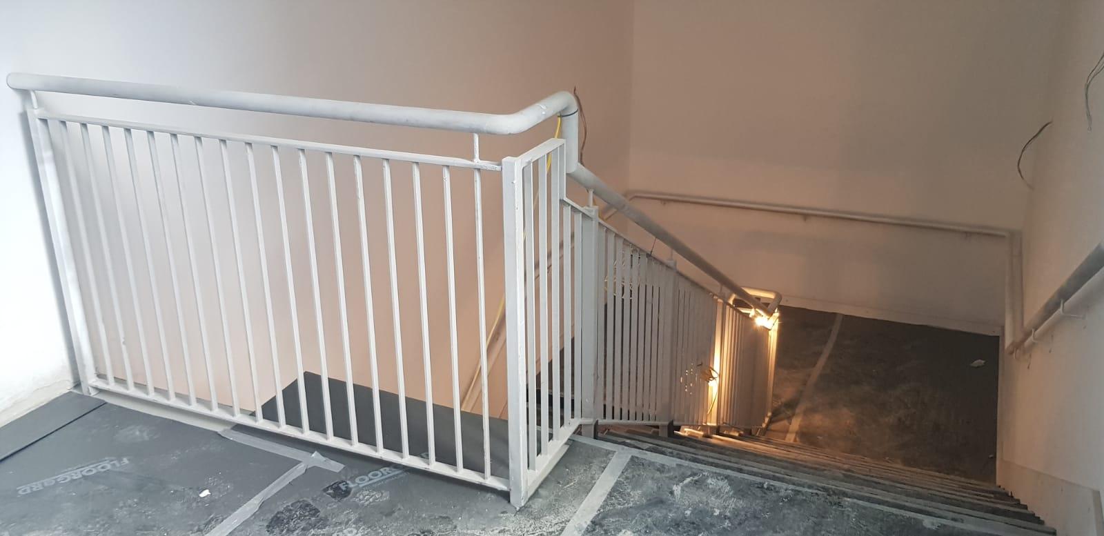 Back stair case installation 5