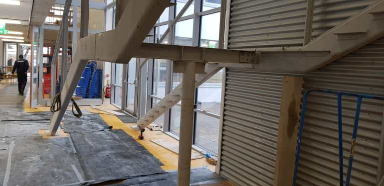Installation of feature stair case in a school (1)