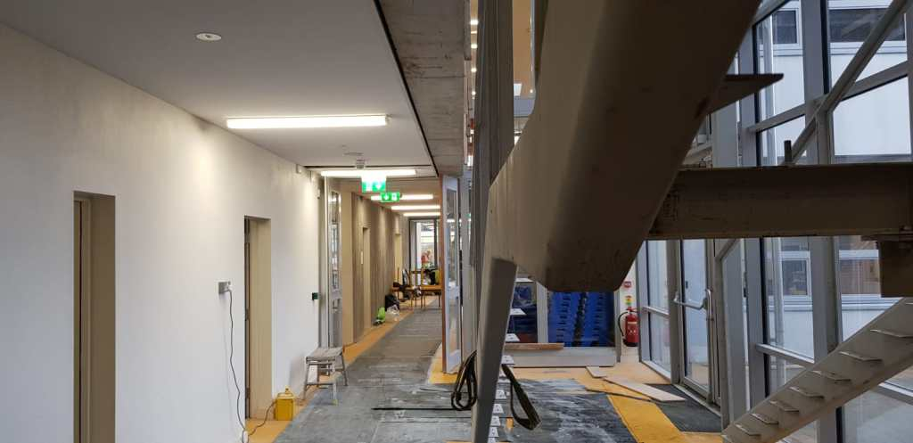 Installation of feature stair case in a school (2)
