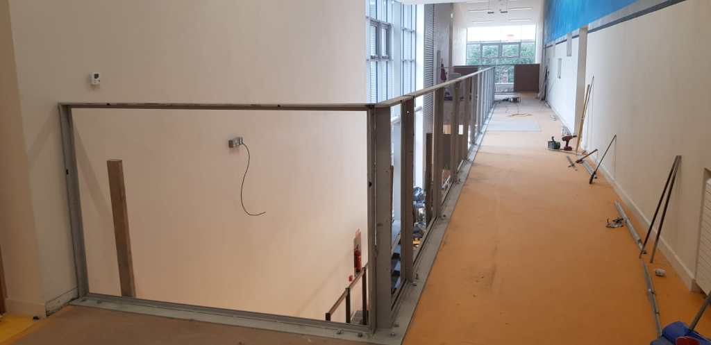 Installation of feature stair case in a school (5)
