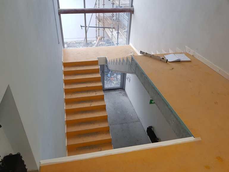 Stair Core hand rail, balustrade installation (1)