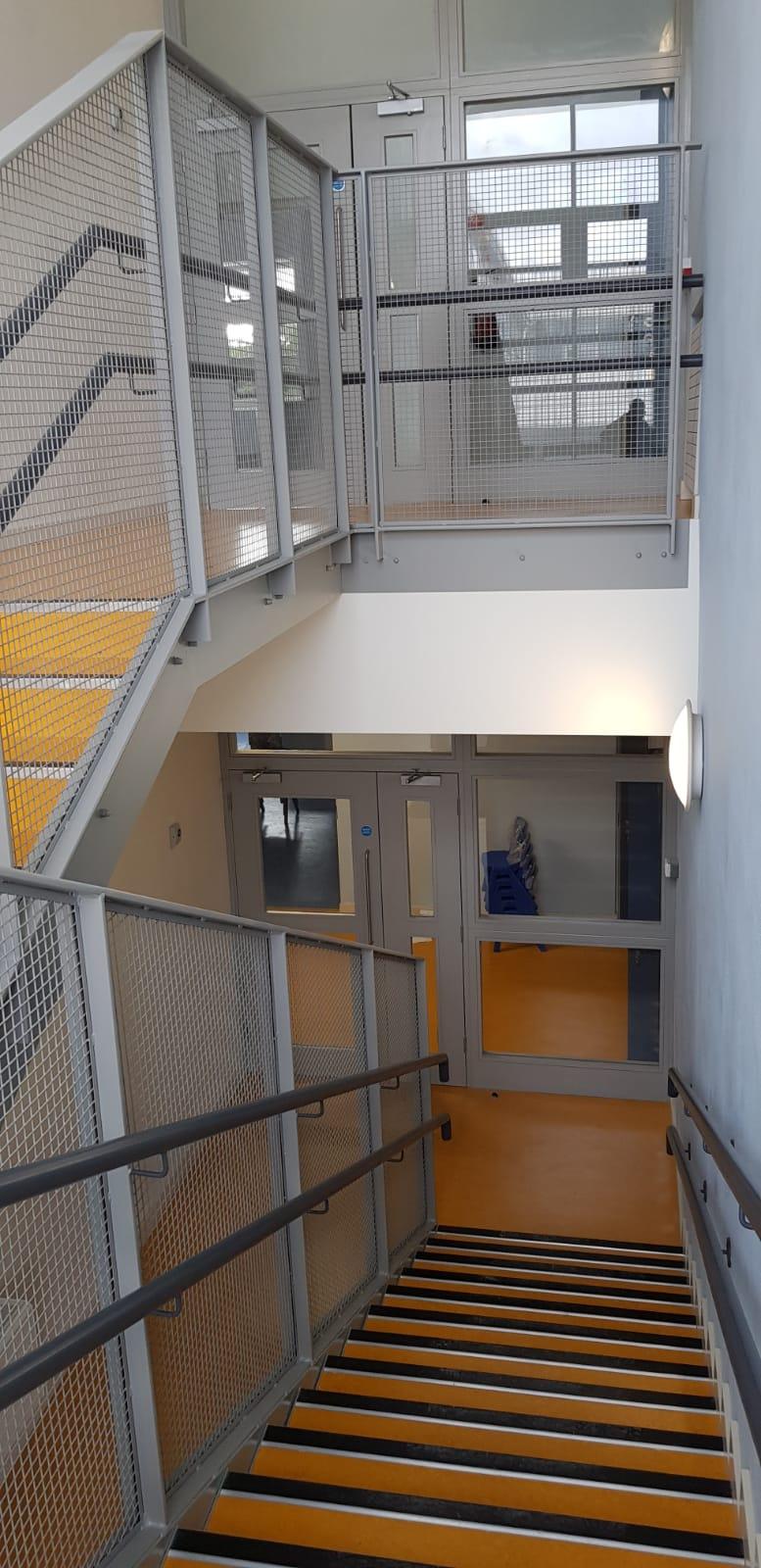 Stair Core hand rail, balustrade installation (10)