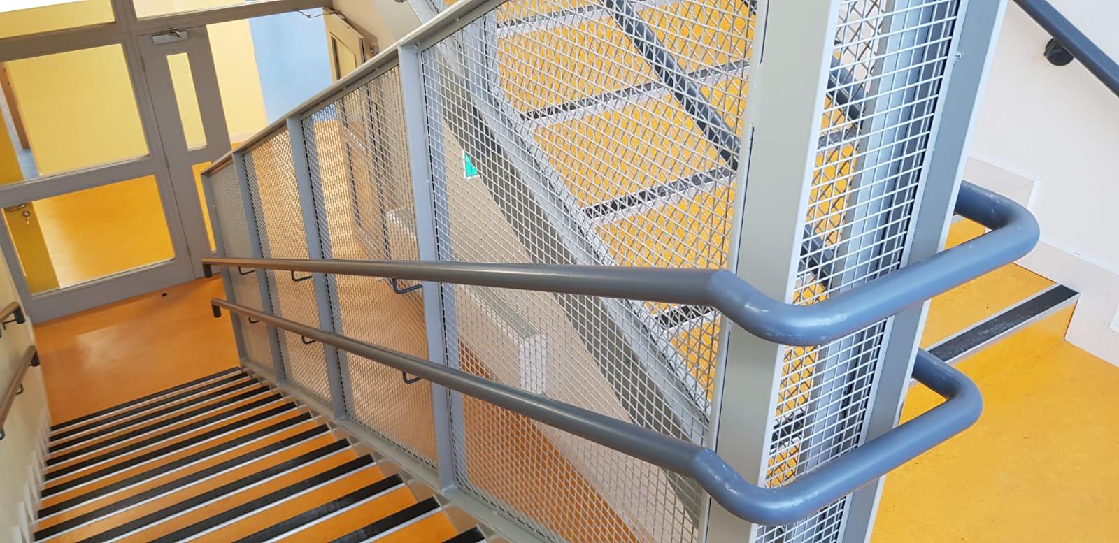 Stair Core hand rail, balustrade installation (3)