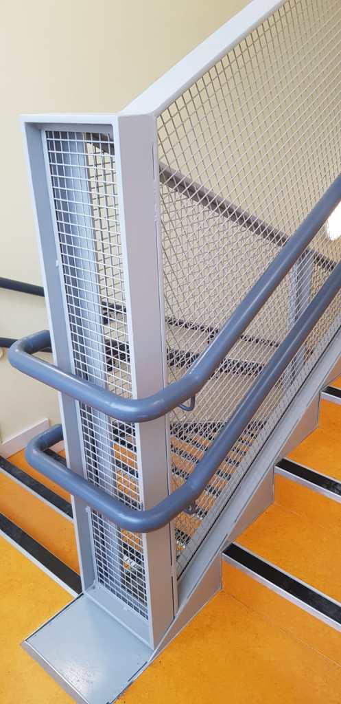 Stair Core hand rail, balustrade installation (8)