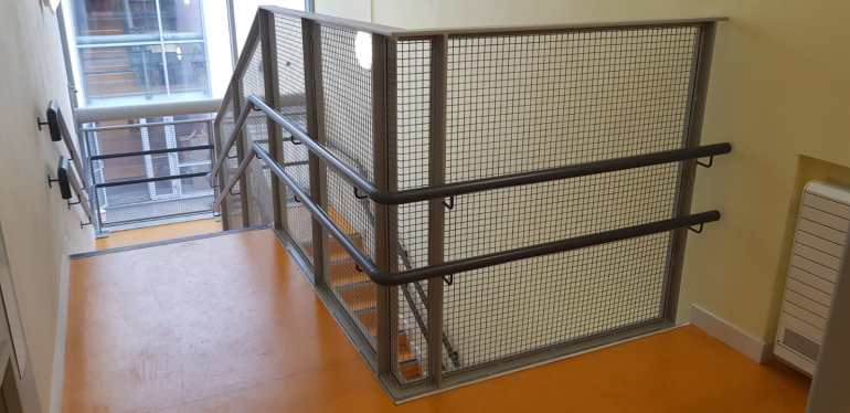 Stair Core hand rail, balustrade installation (9)