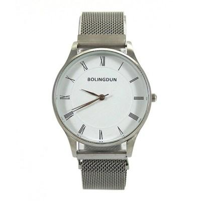 Zilverkleurig metalen quartz horloge