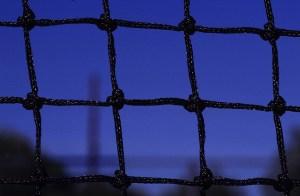 Net amid the wide blue sky