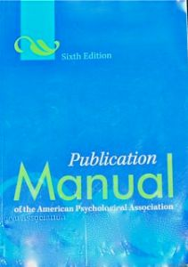 APA Publication Manual Cover
