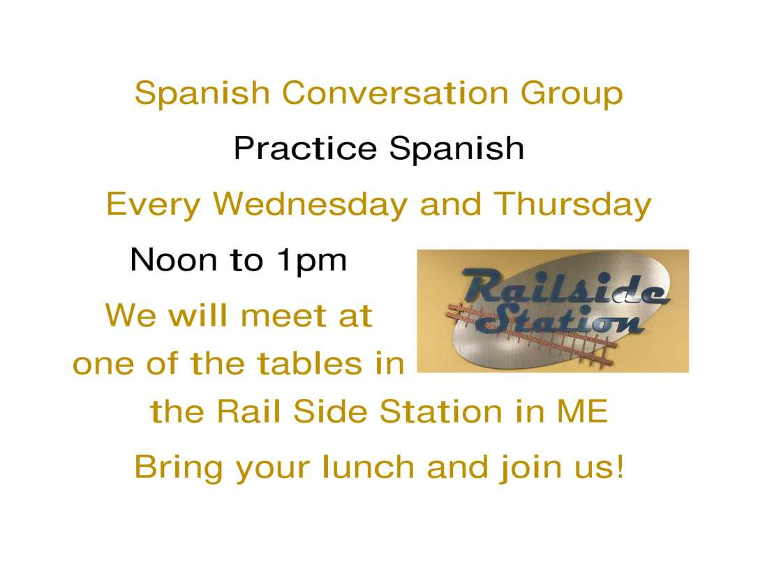 Spanish Conversation Group add Railside Station-1